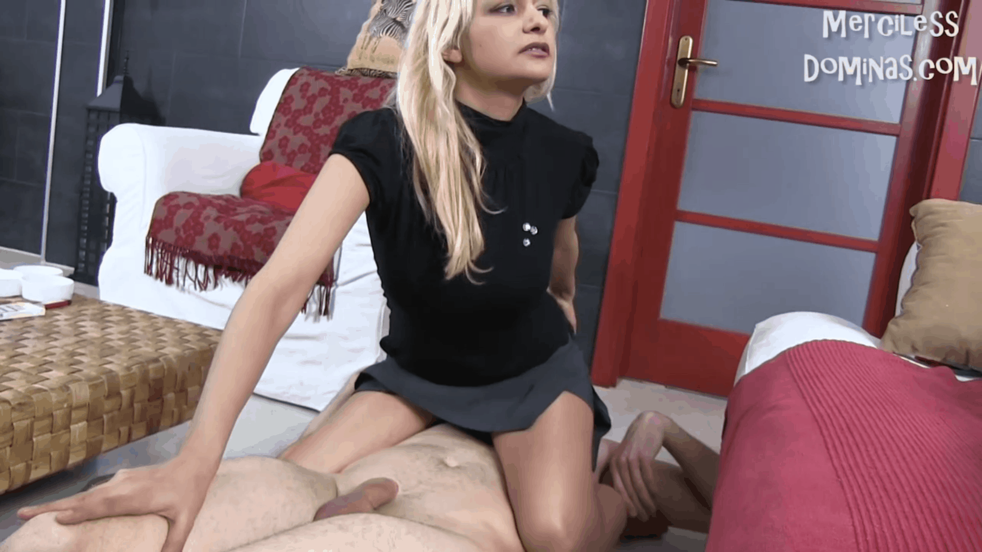Lady Zsi Spit and Piss on her Slave